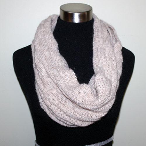 Basketweave infinity scarf