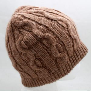 Cable knit brown