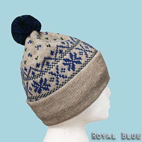 Royal blue snowflake